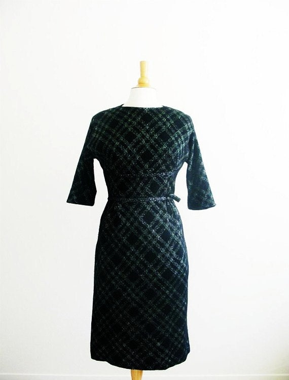 Vintage 1960's Silver Lining Sweater Dress
