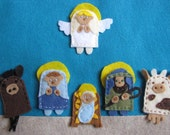 Nativity Story Finger Puppet Set (12 Pieces)