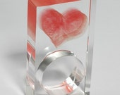 floating red heart ring