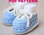 CHRISTMAS SALE 20%OFF Sweet Summer Crochet Baby Booties - Pattern Pdf