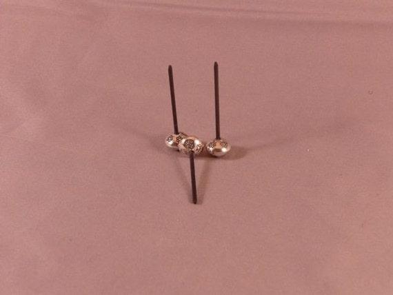 Silver lotus beads (lightweight)