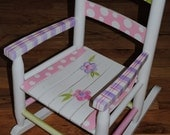 Childrens Rocking Chair. Hand Painted and customized for your child.