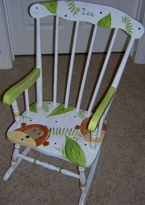 Kids Painted Rocking Chair