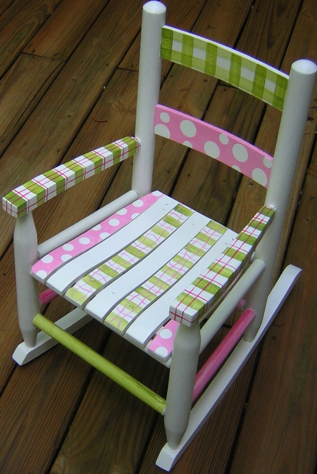 Child s hand painted rocking chair