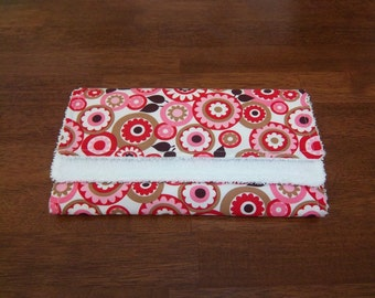 Coco Flowers in Pink Burp Cloth