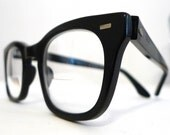 Halo Classic Black Horn Rimmed USA Eyeglasses, Mad Men Prescription Eye or Sunglasses Frames