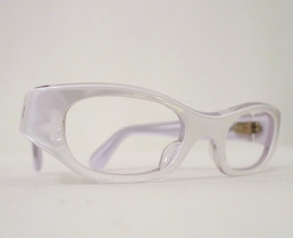 Eyeglass Frames With Pearls : NOS Small Snowy White Pearl Cat Eye Eyeglasses, Frame ...