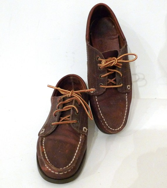 Bass Leather Boat Shoes Blucher Moccasins Women's US Sz.