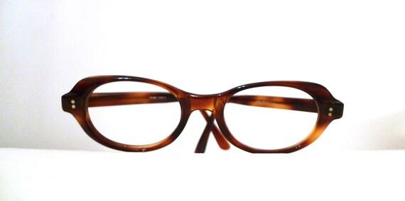 SALE Mod Bubble Cat Eye Frames / France Tortoise Shell Horn Rimmed Eyeglasses, Mad Men Frames