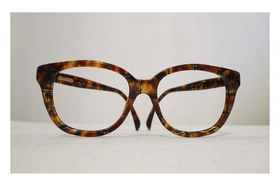 Large Frame Tortoise Shell Glasses : SALE Big Gucci Very Faux Tortoise Shell Horn Rimmed Eyeglasses