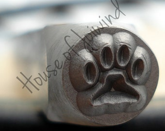 PAW PRINT   - Metal Design Stamp Punch 6x6mm Impression Dog Cat