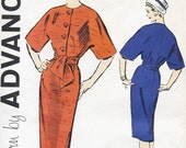 Vintage 1960s CHIC Kimono Sleeve SHEATH DRESS Pattern - 33 Bust - Advance 9141