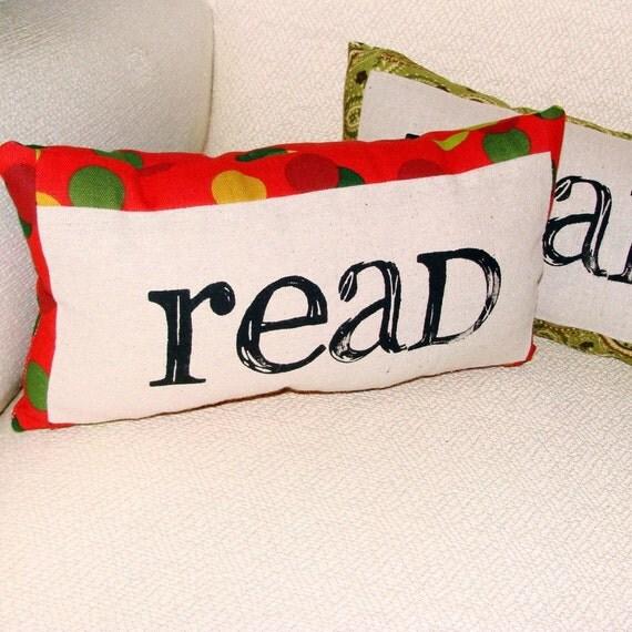 Polka Dot Reading Pillow - Red