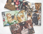 gadget case or cash wallet -- cat\/dog prints, choose your favorite -- for cell phone, iPod, MP3, small camera, or cash