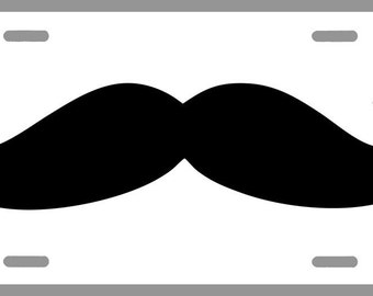 Moustache Party License Plate