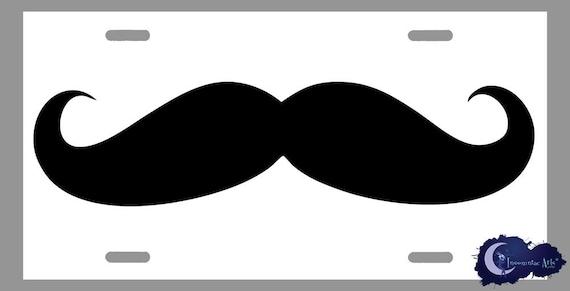 Moustache Party License Plate