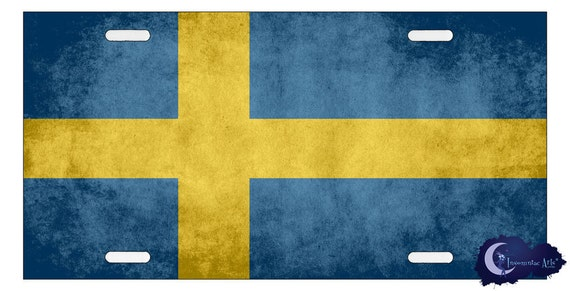 Swedish Flag - Scandanavian License Plate
