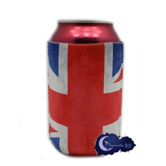 union jack flag british can  u0026 bottle insulated by insomniacarts