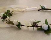 Barn weddings Bridal Hair Wreath accessories Woodland Rustic Chic flower crown -Brooke- floral circlet, Festivals hair fashion Flower crown