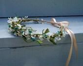 Music festival hairwreath Boho flower crown -Julie- Wild Daisies  Fairy halo Bridal headpiece Wedding accessories artificial headdress Rave