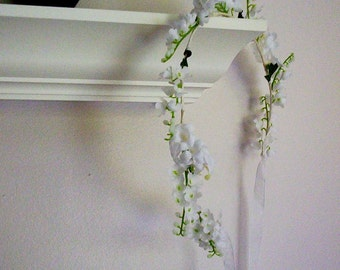Lily of Valley Bridal hair wreath First Communion flower girl Halo silk wedding flowers bridal accessories flower crown Spring Aussie bride