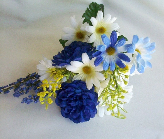Wedding Flowers French Country Blue Reserved For By AmoreBride
