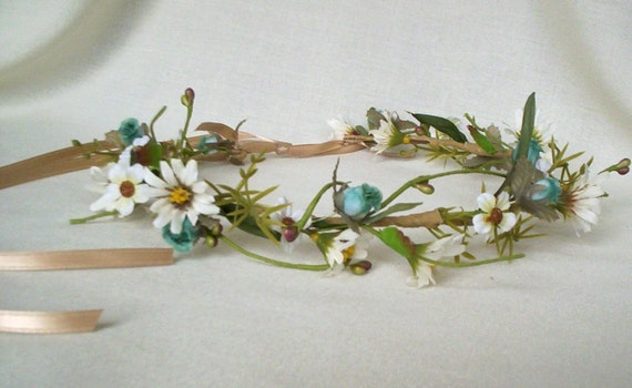 Floral Hair Crown Bohemian Rhapsody Daisy headband Reserved for Theresa