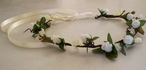 Barn weddings Bridal Hair Wreath accessories Woodland Rustic Chic flower crown -Brooke- floral circlet Festivals hair fashion Flower crown