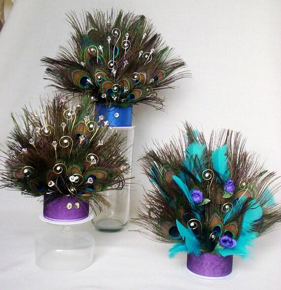 Peacock Feather Wedding Cake: Custom Peacock Cake Top Purple Turquoise Wedding Rhinestone