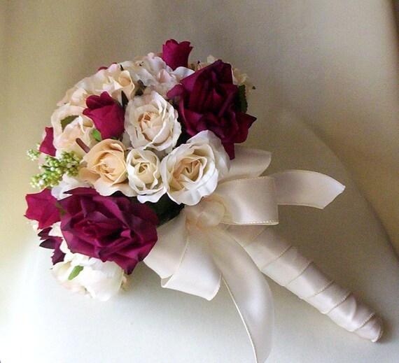 Items Similar To Bride Bouquet Silk Wedding Flowers