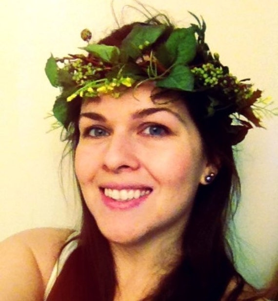 Rustic Ivy crown Vine Woodland Forest Queen headwreath bridal 2016 Wedding Trend accessories hair wreath festival headress Greek Goddess