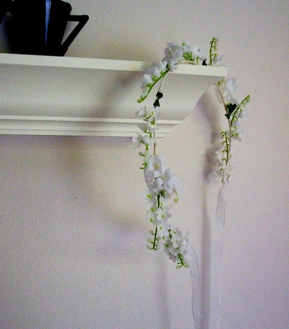 Lily of Valley Bridal hair wreath First Communion flower girl Halo silk wedding flowers bridal accessories flower crown Spring Aussie bride