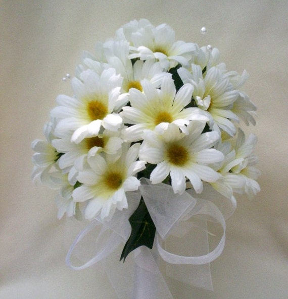 daisy wedding bouquet package reserved custom for joannbudget weddings
