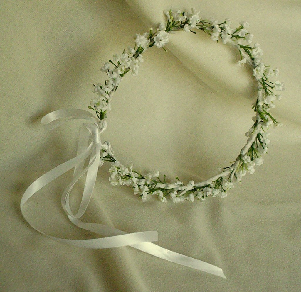 Babys Breath Flower Crown Bridal headpiece flower circlet