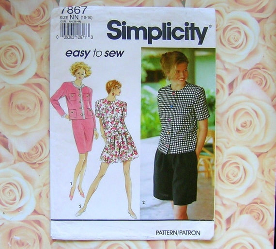 Simplicity 7867 Chanel Suit Pattern For Ladies