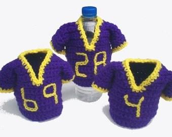 Crocheted Team Jersey Bottle Cozy - Choose your favorite team