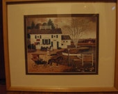 Vintage Prints by Charles Wysocki  in Wooden Glass Frame