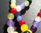 Rainbow natural stone Jade beaded necklace