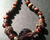 Natural tigereye Stone bead necklace