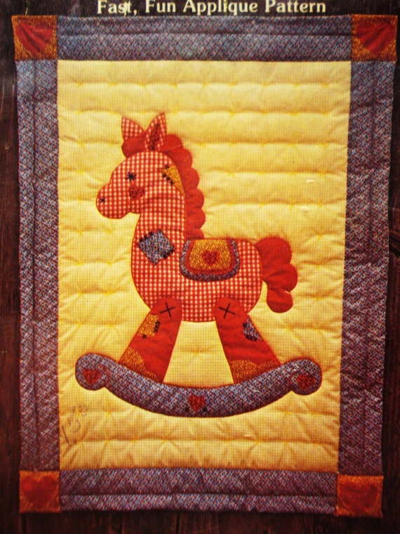 Crib Quilt Rocking Horse Applique 45 X 60 Size Pattern