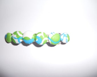 Preppy Lilly Pulitzer Blue and Green Preppy Hair Barrette