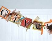 THANKSGIVING Decoration GIVE THANKS Banner