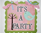 It's a Party Door Sign Decoration Inspired by Pottery Barn's Hayley Adorable