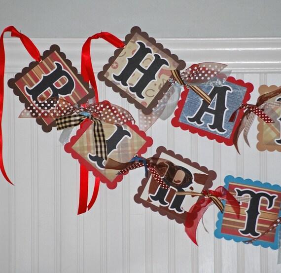 Western Decor For Birthday: COWBOY Birthday Banner Happy Party Decoration WESTERN Garland