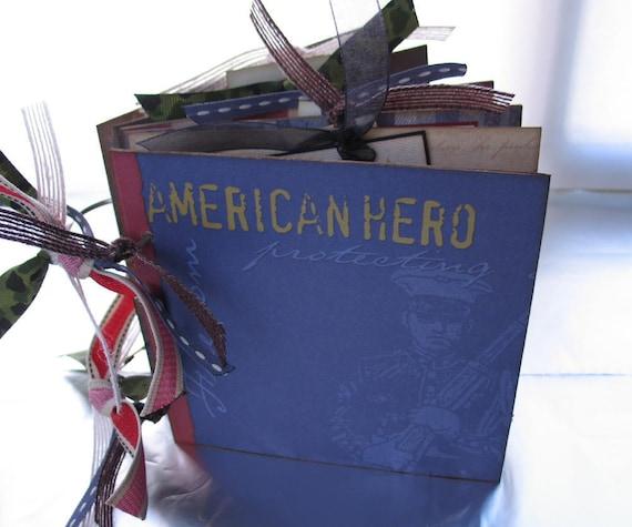 U.S. Marines Military Hero Scrapbook Album Chipboard Memory Book 6x6 Premade