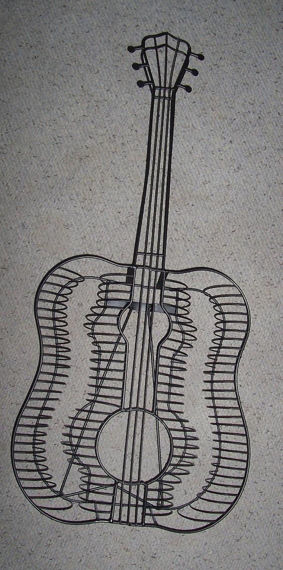 Metal Guitar Cd Rack Cd Holder Wire Guitar Stand