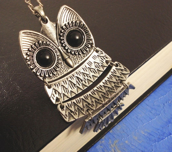 The Owl Necklace - Antique Silver - FREE POST WORLDWIDE