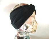 Turban Headband- Twist Knot - BLACK