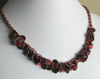 Single Strand Confetti Necklace Aluminum Chain Mail Jewelry