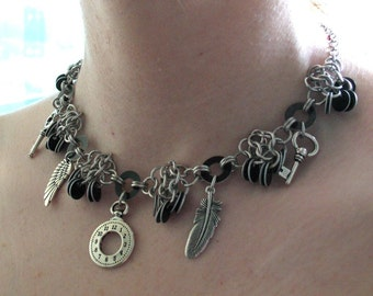 Timeless Flight Steampunk Chainmaille Necklace